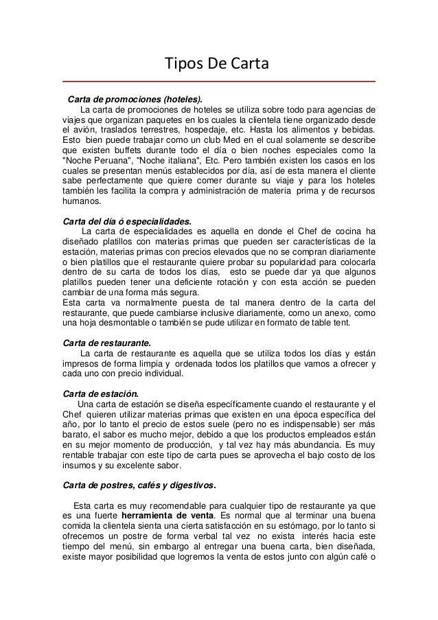 TiposDeCarta Carta de promociones (hoteles). La carta de promociones de hoteles se utiliza sobre todo para agencias de ...