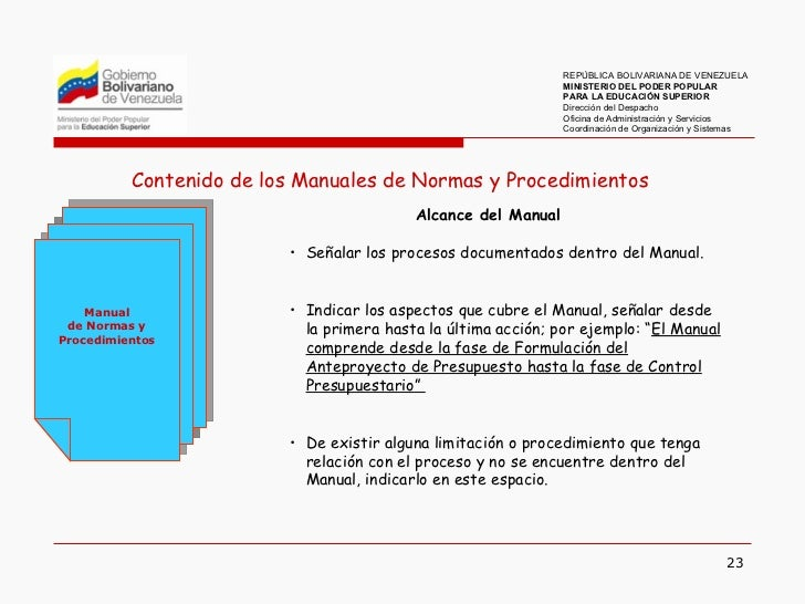 Elaboraci n de manuales de normas y procedimientos Manual de procesos y procedimientos de una empresa de alimentos