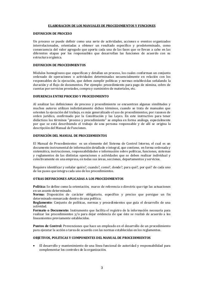 Elaboraci n de manuales de procedimientos y funciones for Manual de funciones y procedimientos de un restaurante