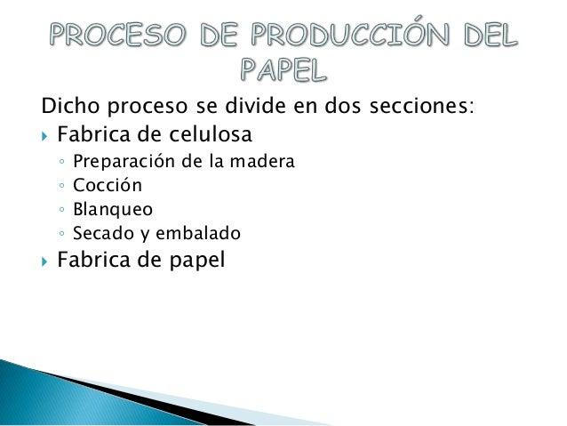 Elaboraci n de papel 1 for Como se fabrica el marmol