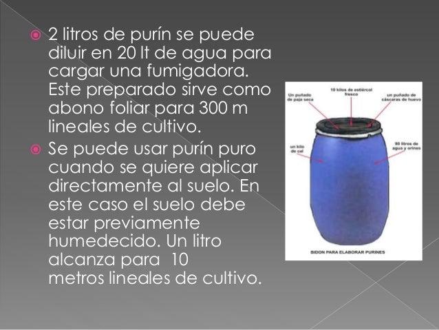 Elaboración de purines Slide 3