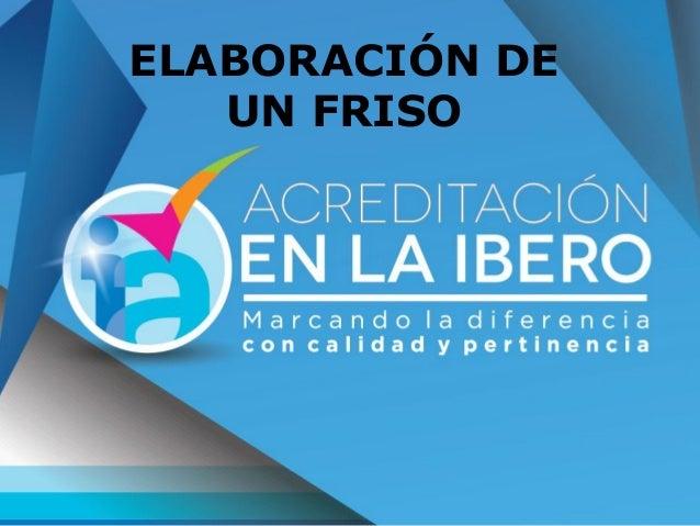 ELABORACIÓN DE UN FRISO