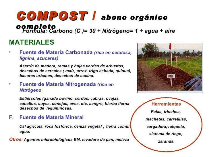 compost abono orgnico