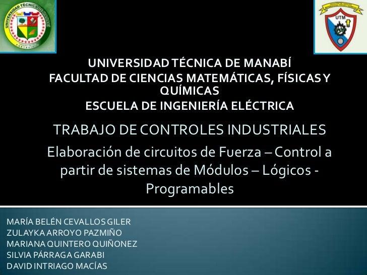 UNIVERSIDAD TÉCNICA DE MANABÍ        FACULTAD DE CIENCIAS MATEMÁTICAS, FÍSICAS Y                        QUÍMICAS          ...