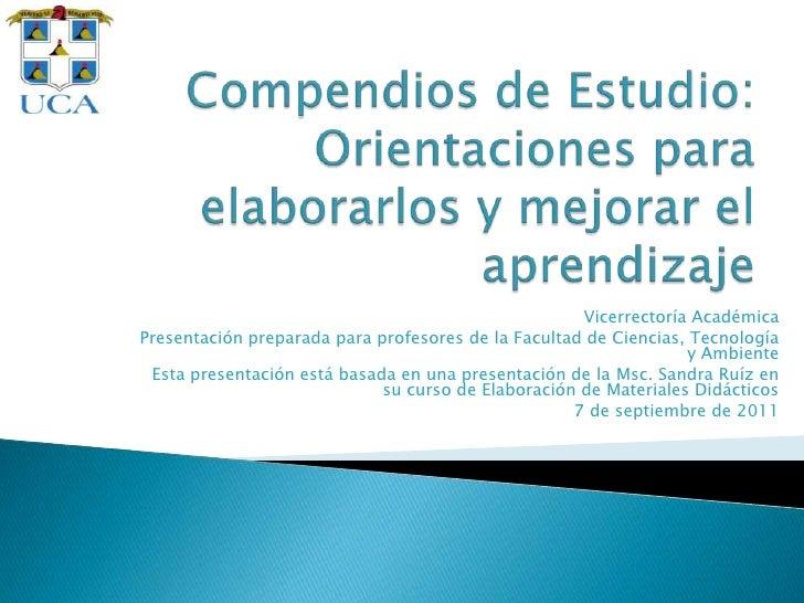 Vicerrectoría AcadémicaPresentación preparada para profesores de la Facultad de Ciencias, Tecnología                      ...