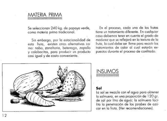 Elaboracion de fruta cofitada