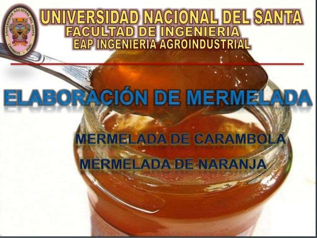 INTRODUCCIÓN La mermelada, se piensa, fue creada por el médico de María, Reina de Francia, en 1561, quién mezcló pulpa de ...