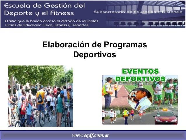 Elaboracion de programas deportivos Slide 2