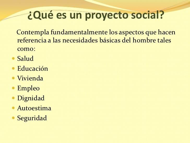 Elaboracion de proyectos sociales for Proyecto social comedor comunitario