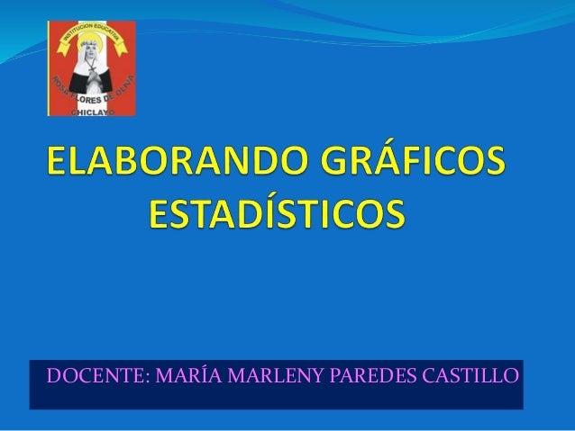 DOCENTE: MARÍA MARLENY PAREDES CASTILLO