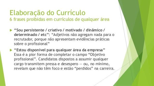 Elaboração De Currículo Apresentação Pessoal E Entrevista De Emprego