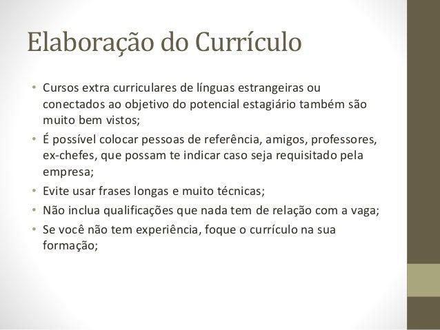 Elaboração De Currículum Vitae