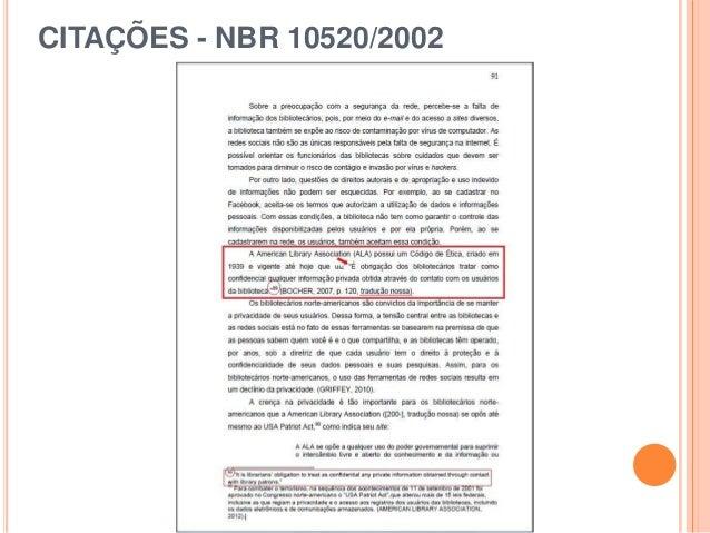 CITAÇÕES - NBR 10520/2002