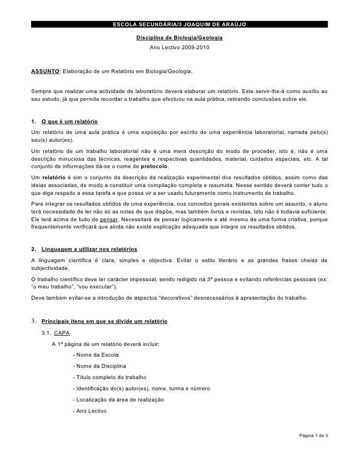ESCOLA SECUNDÁRIA/3 JOAQUIM DE ARAÚJO                                           Disciplina de Biologia/Geologia           ...