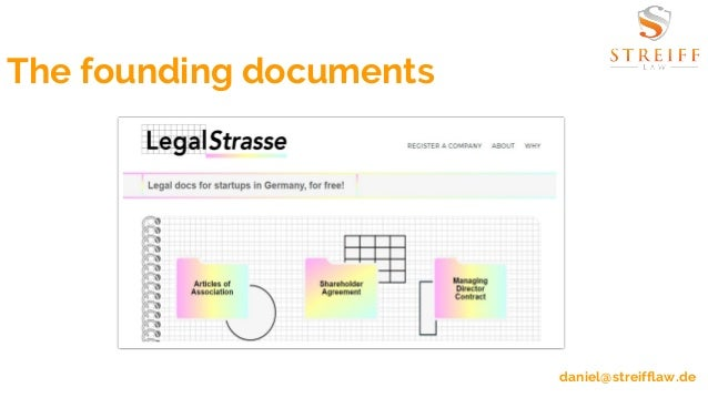 Launching LegalStrasse Legal Docs For Startups In Germany For Free - Legal docs