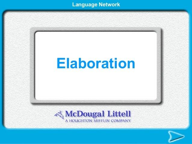 Language NetworkElaboration