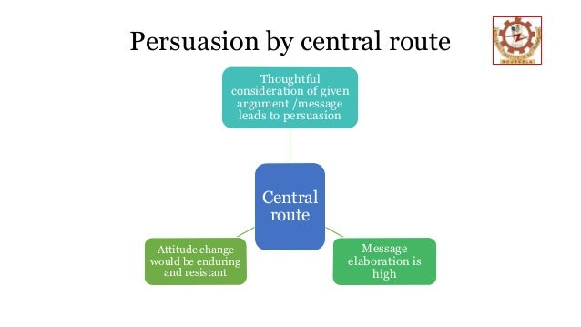 Elaboration likelihood model elm introduction elaboration likelihood model deals with persuasion describes the change of attitudes two major routes central route peripheral route 3 ccuart Gallery