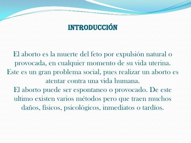 E L  A B O R T O1 Slide 3