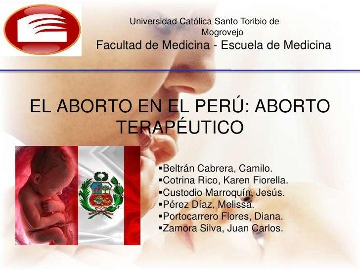 Universidad Católica Santo Toribio de                             Mogrovejo      Facultad de Medicina - Escuela de Medicin...