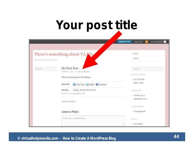 Ela carrillo how to create a wordpress blog - 웹