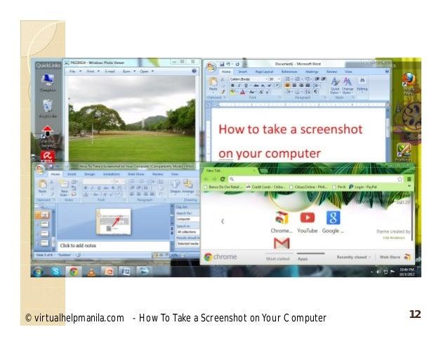 how to take a screenshot on your computer mac