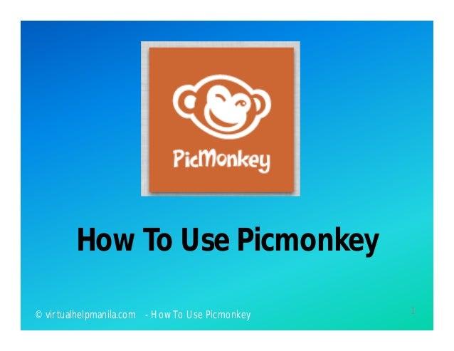 How To Use Picmonkey1© virtualhelpmanila.com - How To Use Picmonkey