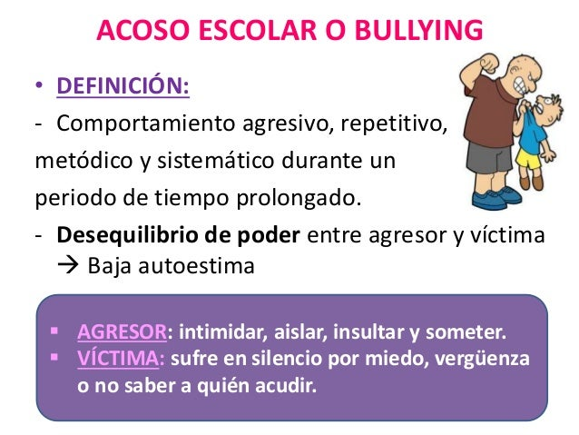El acoso escolar o bullying for Comedor escolar definicion