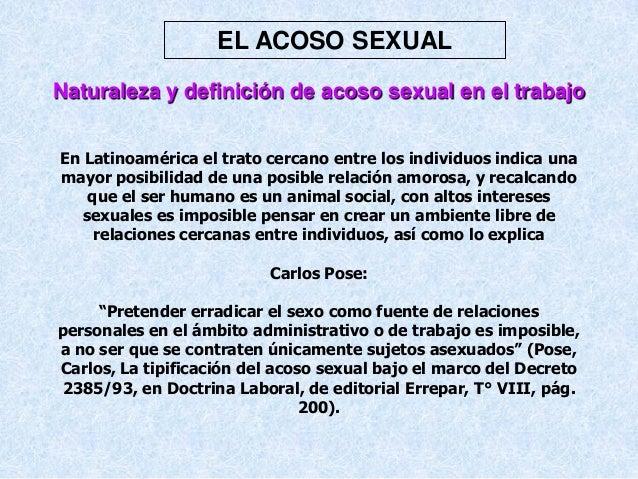 Acososexual definicion