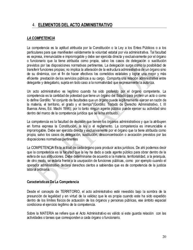 Legalidad de presuncion administrativos actos jurisprudencia los