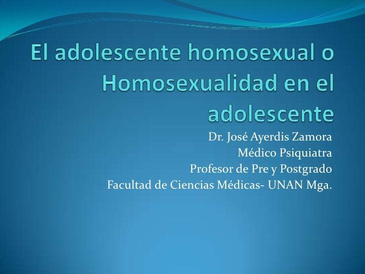 Dr. José Ayerdis Zamora                         Médico Psiquiatra               Profesor de Pre y PostgradoFacultad de Cie...