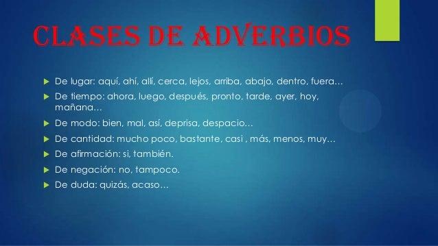 El adverbio Slide 3