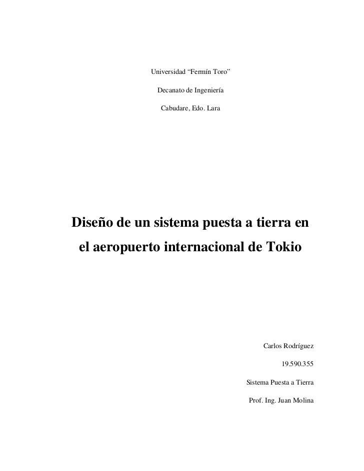 """Universidad """"Fermín Toro""""              Decanato de Ingeniería               Cabudare, Edo. LaraDiseño de un sistema puesta..."""