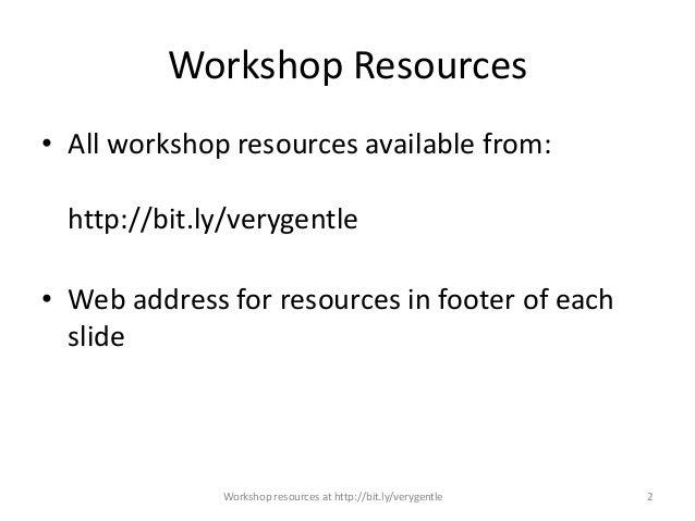 Very Gentle Linked Data Workshop Slide 2