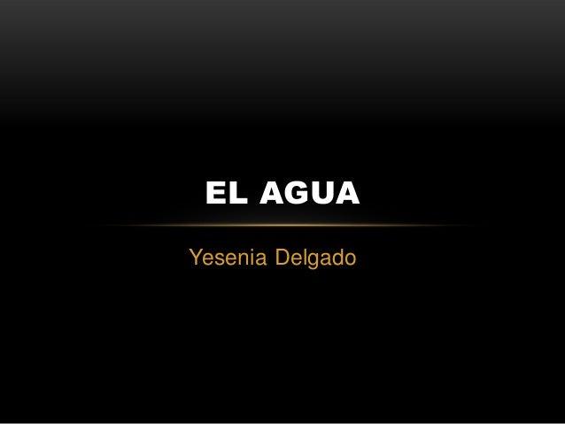 EL AGUA Yesenia Delgado