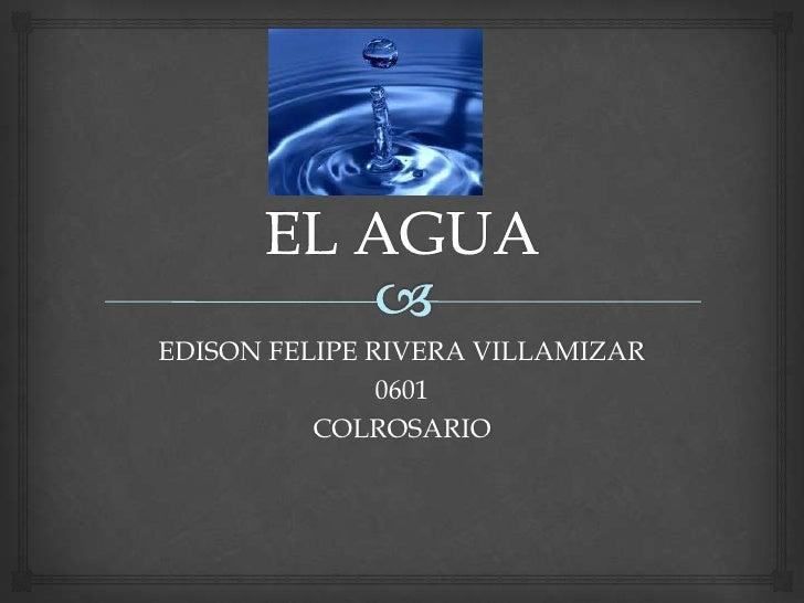 EDISON FELIPE RIVERA VILLAMIZAR               0601          COLROSARIO