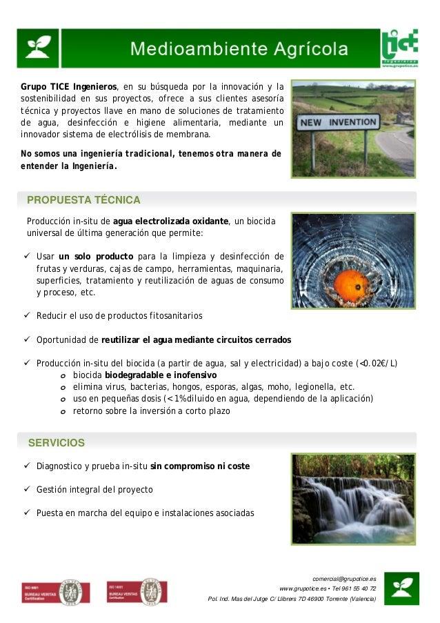 comercial@grupotice.es www.grupotice.es • Tel 961 55 40 72 Pol. Ind. Mas del Jutge C/ Llibrers 7D 46900 Torrente (Valencia...