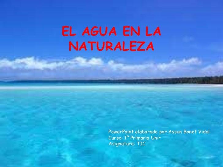 El Agua En La Naturaleza
