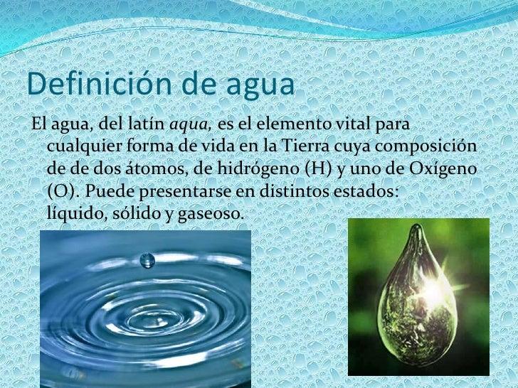 El agua y su importancia for Concepto de oficina y su importancia