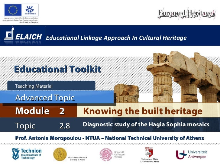 Educational Linkage Approach In Cultural HeritageEducational ToolkitTeaching MaterialAdvanced TopicModule 2               ...