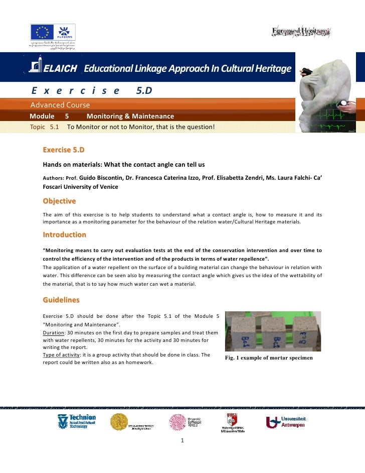 Educational Linkage Approach In Cultural HeritageE x e r c i s e                          5.DAdvanced CourseModule      5 ...