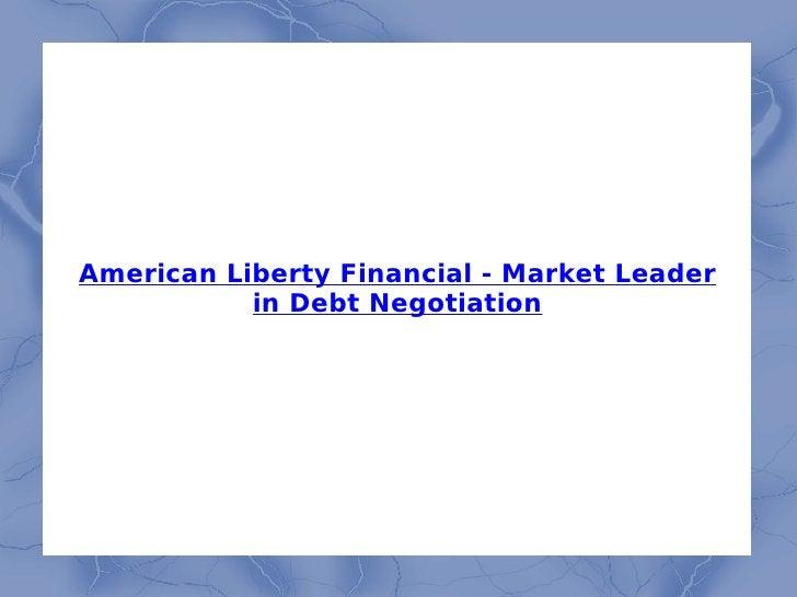 American Liberty Financial - Market Leader in Debt Negotiation