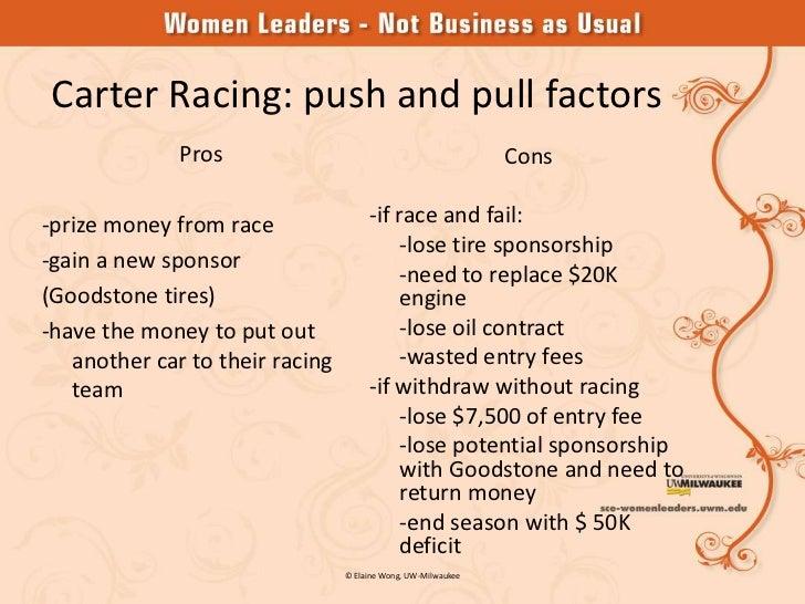 carter racing case answer