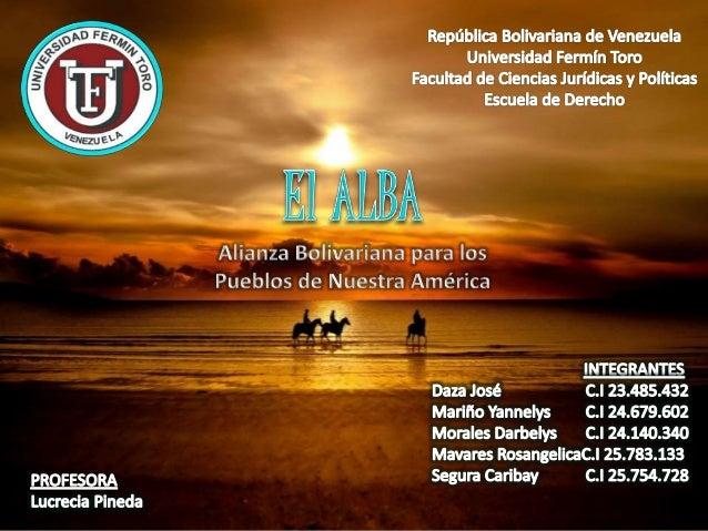 ALBA Alimentación ALBA Ambiente ALBA Ciencia y Tecnología