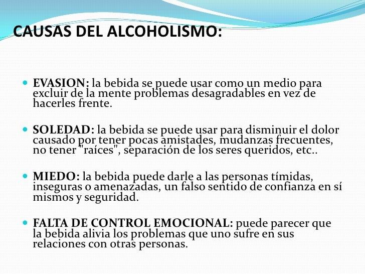 Me acusa del alcoholismo
