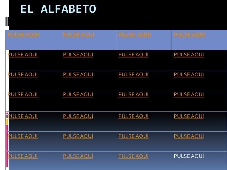 EL ALFABETOPULSE AQUI   PULSE AQUI   PULSE AQUI   PULSE AQUIPULSE AQUI   PULSE AQUI   PULSE AQUI   PULSE AQUIPULSE AQUI   ...
