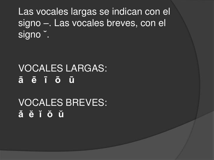 Vocales Largas En Latin 68