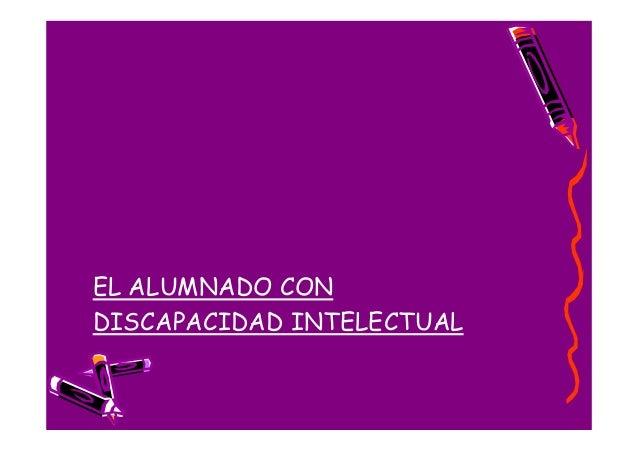 EL ALUMNADO CONDISCAPACIDAD INTELECTUAL