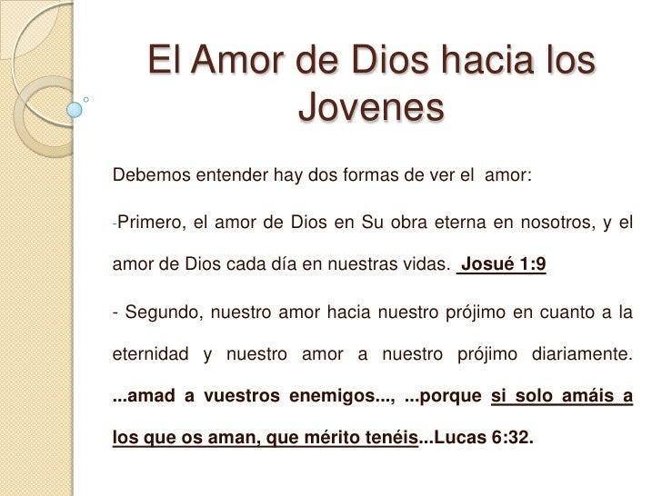 Amor, un regalo de Dios pues a semejanza a el amamos.