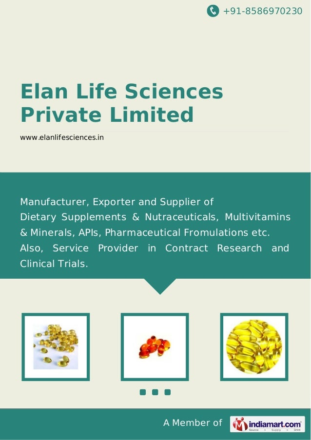 +91-8586970230 A Member of Elan Life Sciences Private Limited www.elanlifesciences.in Manufacturer, Exporter and Supplier ...