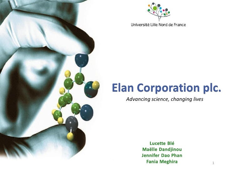 Elan Corporation plc.   Advancing science, changing lives                                           1